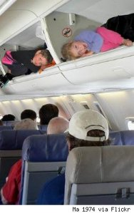 how to have 'grace' in a crowded airplane...