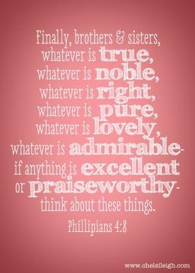 Phillipians 4-8 with signature
